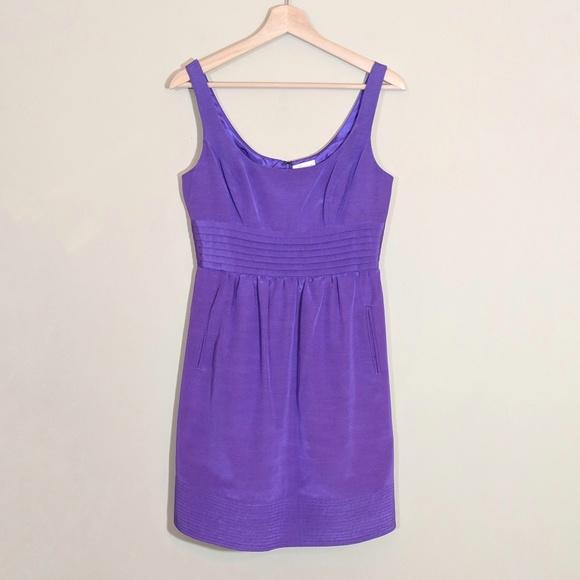 9d6bb11158ffe SHOSHANNA Purple Scoop Neck Empire Waist Dress 4. M 5be8ac414ab6337c64ddbe1f